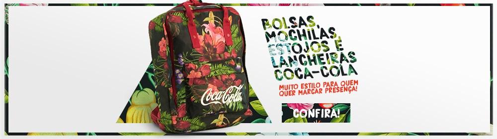 Produtos Coca-Cola. Muito estilo para quem quer marcar presença!
