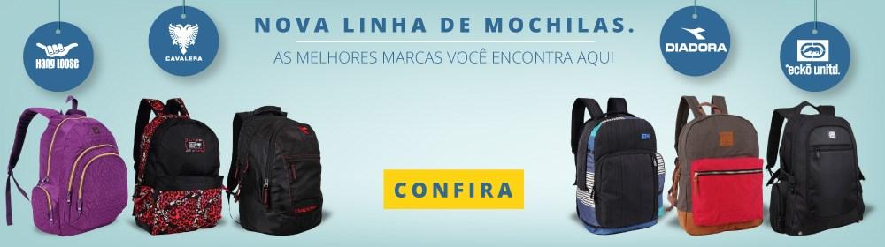 Nova linha de Mochilas. Escolha a sua!