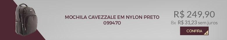 MOCHILA CAVEZZALE EM NYLON PRETO 099470