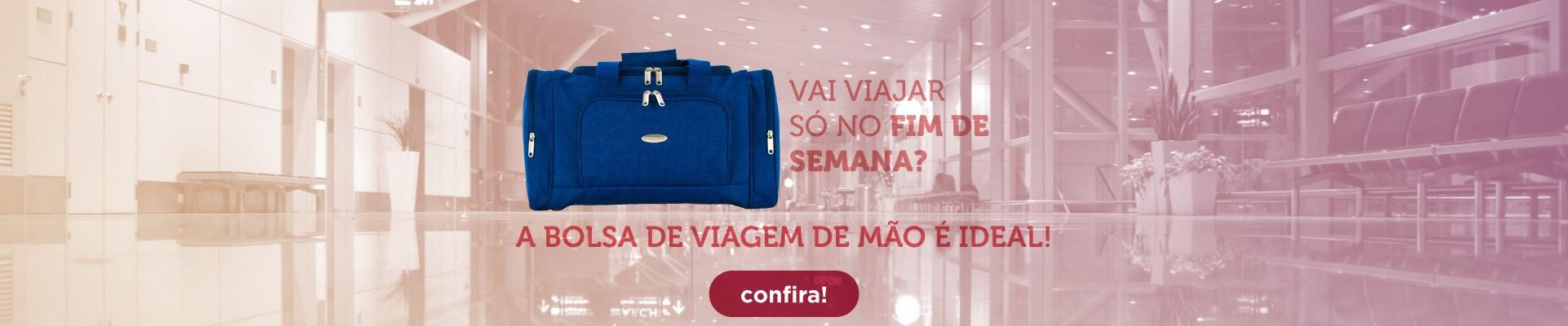 Viagem de fim de semana? Confira nossas malas de mão!