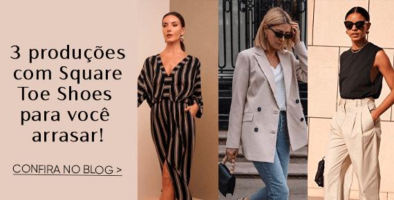 Trend: 3 Produções com Square Toe Shoes para você arrasar!