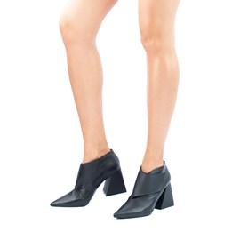 Ankle Boot de Couro Cavezzale Naturale Preto 101993