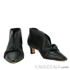 Ankle Boot de Couro Cavezzale Veneto Preto 102291