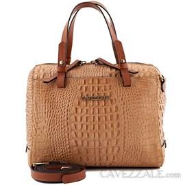Bolsa Bowing de Couro Croco Feminina Cavezzale Avelã 0101414
