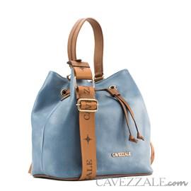 Bolsa Bucket de Couro Feminina Cavezzale Blue 102633