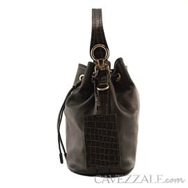 Bolsa Bucket de Couro Feminina Cavezzale Preto 101973