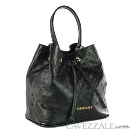 Bolsa Bucket de Couro Feminina Cavezzale Preto 102145