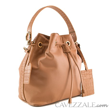 Bolsa Bucket de Couro Feminina Cavezzale Terracota 101973