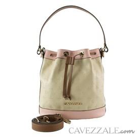 Bolsa Bucket de Couro Feminina Cavezzale Vanilla/rose 102586