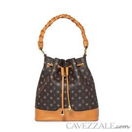 Bolsa Bucket Feminina Personnalite Cavezzale Monograma Chocolate/caramelo 102754
