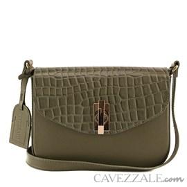Bolsa de Couro Croco Feminina Cavezzale Army 101977