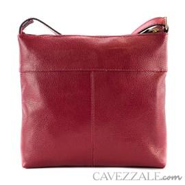 Bolsa de Couro Croco Feminina Cavezzale Scarlet 101567