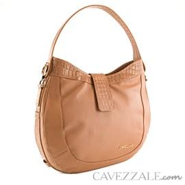 Bolsa de Couro Croco Feminina Cavezzale Terracota 101974