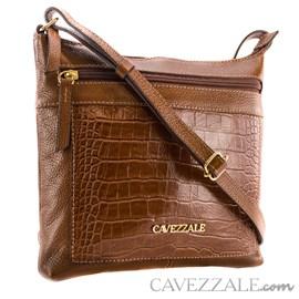 Bolsa de Couro Croco Feminina Cavezzale Whisk 101567