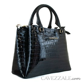Bolsa de Couro Feminina Cavezzale Amazon Preto 102003