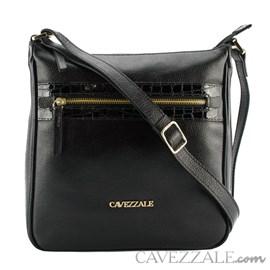 Bolsa de Couro Feminina Cavezzale CVZ Floter/Verniz Preto 102354