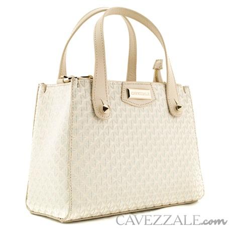Bolsa De Couro Feminina Cavezzale Off White 0100512