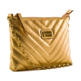 Bolsa De Couro Feminina Cavezzale Ouro 099370