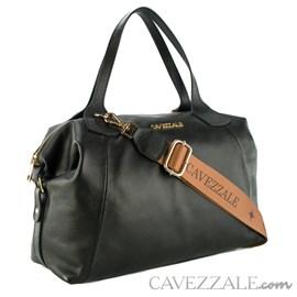 Bolsa Bowing de Couro Feminina Cavezzale Soft Preto 102370