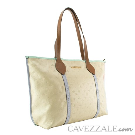 Bolsa de Couro Feminina Cavezzale Vanilla/acqua 102587