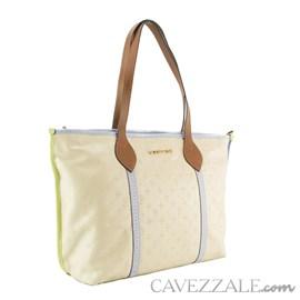 Bolsa de Couro Feminina Cavezzale Vanilla/lavanda 102587