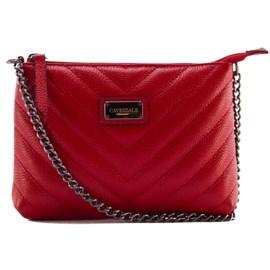 Bolsa De Couro Feminina Cavezzale Vermelho 099370