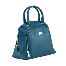 Bolsa Feminina Couro Cavezzale Azul 056537