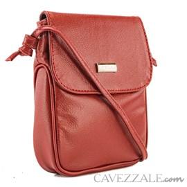 Bolsa Feminina Couro Cavezzale Vermelho 019694