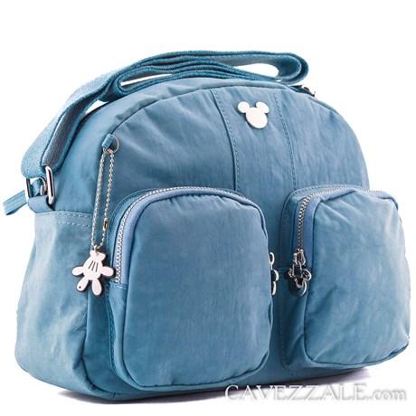 Bolsa Feminina Mickey Mouse Azul 0100871