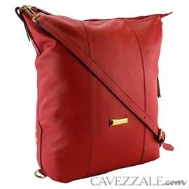Bolsa Mochila de Couro Feminina Cavezzale Vermelho 0101041