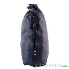 Bolsa Mochila Satchel de Couro Feminina Cavezzale Marinho 0101041