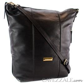 Bolsa Mochila Satchel de Couro Feminina Cavezzale Preto 0101041