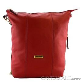 Bolsa Mochila Satchel de Couro Feminina Cavezzale Vermelho 0101041