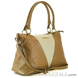 Bolsa Shopping Bag Cavezzale Monograma Taupe 102143