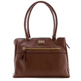 Bolsa Shopping Bag de Couro Feminina Cavezzale Castor 099258