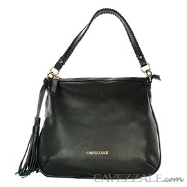 Bolsa Shopping Bag de Couro Feminina Cavezzale Floter Preto 102355