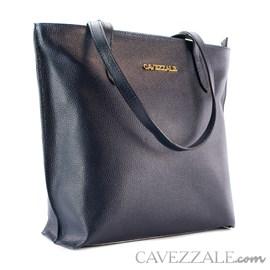 Bolsa Shopping Bag de Couro Feminina Cavezzale Marinho 101571