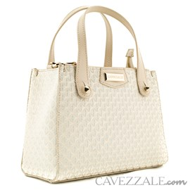 Bolsa Shopping Bag de Couro Feminina Cavezzale Off White 0100512