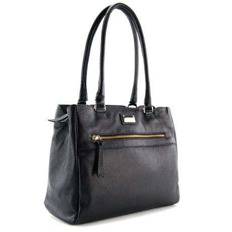 Bolsa Shopping Bag de Couro Feminina Cavezzale Preto 099258
