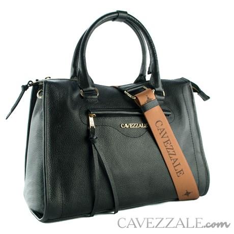 Bolsa Shopping Bag de Couro Feminina Cavezzale Soft Preto 102371