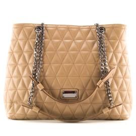 Bolsa Shopping Bag de Couro Feminina Cavezzale Taupe 099315