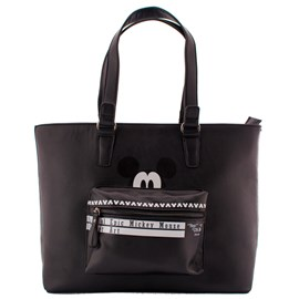 Bolsa Shopping Bag Mickey Mouse Preto 0100104