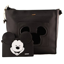 Bolsa Shopping Bag Mickey Mouse Preto 0100352