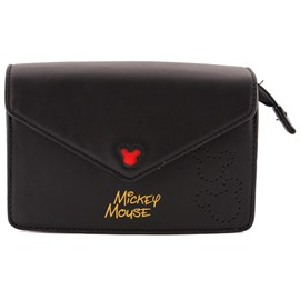 Bolsa Sintético Mickey Mouse Preto 0100081