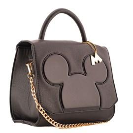Bolsa Sintético Mickey Mouse Preto 0100351