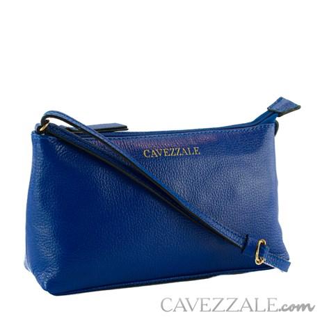 Bolsa Tiracolo de Couro Feminina Cavezzale Azul 0100972