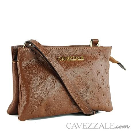 Bolsa Tiracolo de Couro Feminina Cavezzale Castor 102148