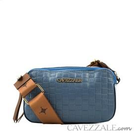 Bolsa Tiracolo de Couro Feminina Cavezzale Floter Blue 102632
