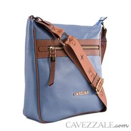 Bolsa Tiracolo de Couro Feminina Cavezzale Floter Blue 102634