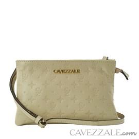 Bolsa Tiracolo de Couro Feminina Cavezzale Monograma Vanilla 102148